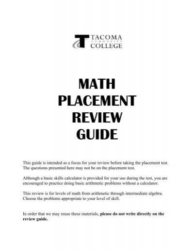 math placement review guide rh yumpu com Math Placement Chart Los Angeles UCF Math Placement Test