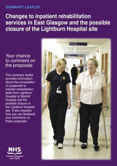Lightburn Summary Indd Nhs Greater Glasgow And Clyde