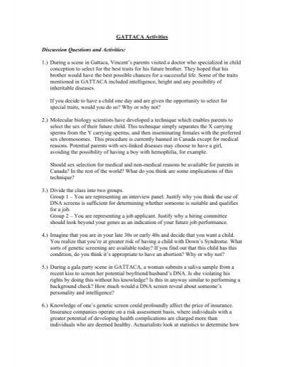 gattaca essay examples