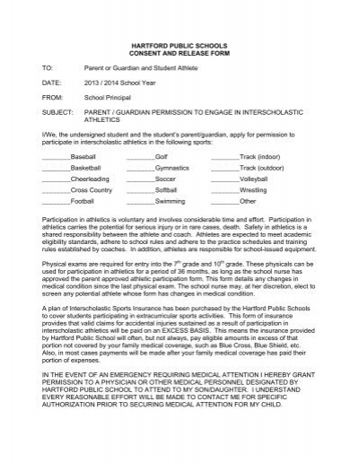 Student Permission Form 13 14 The Sport And Medical Sciences