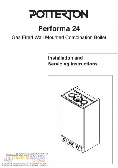 Potterton performa 24 installation manual heatingspares247 asfbconference2016 Images