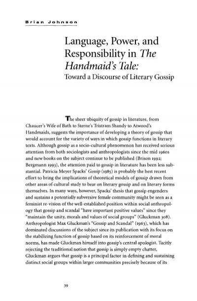 handmaids tale essay power Free essay: power in the handmaid's tale as you read through the handmaid's tale you see the relationships of the characters develop and the fight for power.