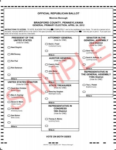 See a sample ballot for your polling place   west chester, pa patch.