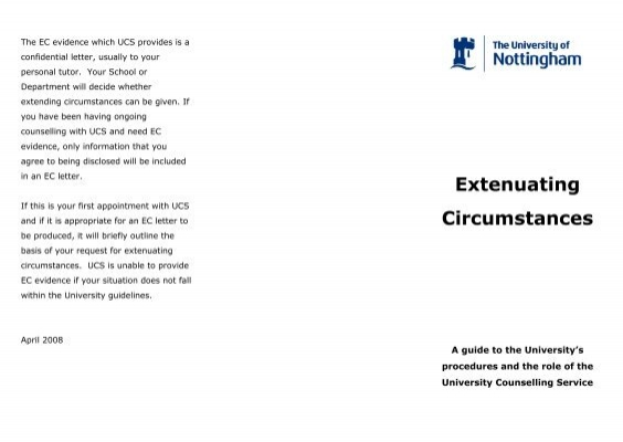 how to write a letter of extenuating circumstances