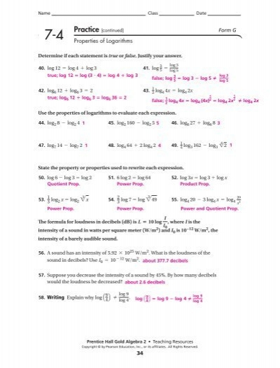 Printables Properties Of Logarithms Worksheet 7 4 properties of logarithms worksheet answers intrepidpath name cl date pract regents exam questions logarithms