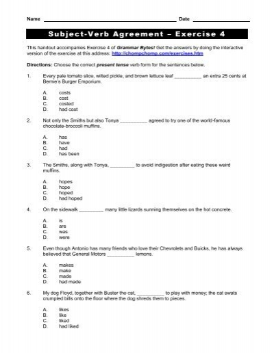 Word Usage Worksheets | Pronoun Agreement Worksheets