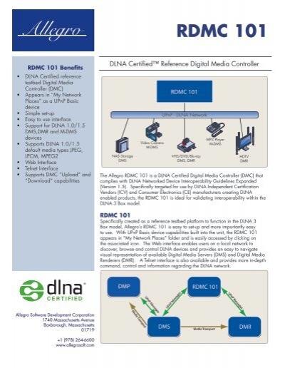 RDMC 101 - Allegro Software Development Corporation