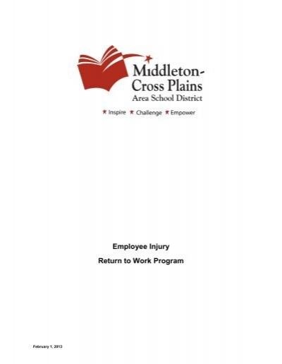 Work Program Booklet Middleton Cross Plains Area School District