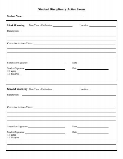 35305200jpg – Disciplinary Action Form