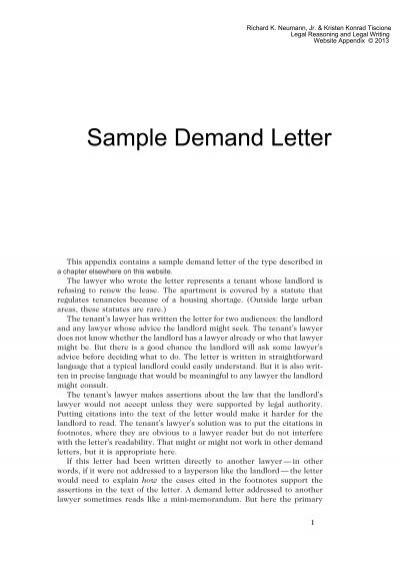 Sample Demand Letter For Payment from www.yumpu.com