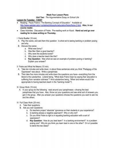 ten year plan essay