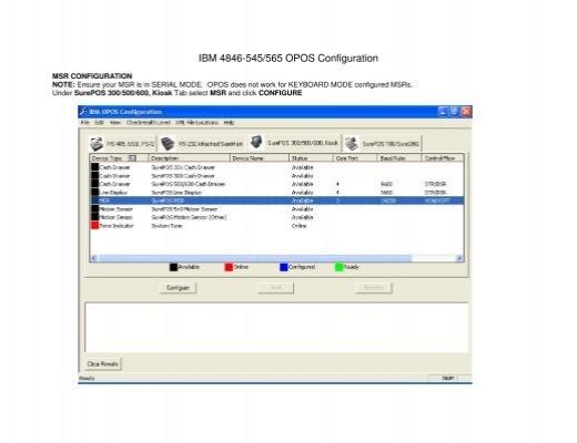 Opos driver ibm 4610 | IBM SureMark 4610 Model 1NR  2019-02-24