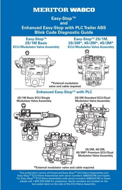 easy stop u201e and enhanced easy stop with plc meritor wabco rh yumpu com Meritor ABS Cables Meritor ABS Cables