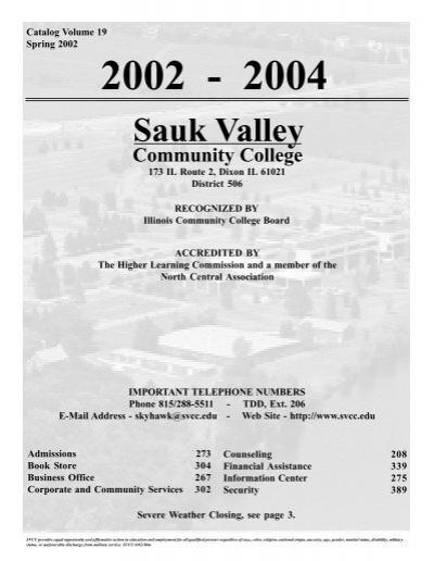 Student Services - Sauk Valley Community College