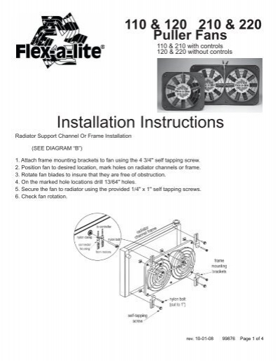 installation instructions  flexalite consolidated
