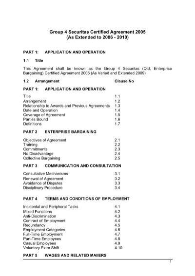 Group 4 Securitas Certified Agreement 2005 Fair Work Australia