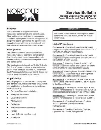 Service Bulletin - Bryant RV Services