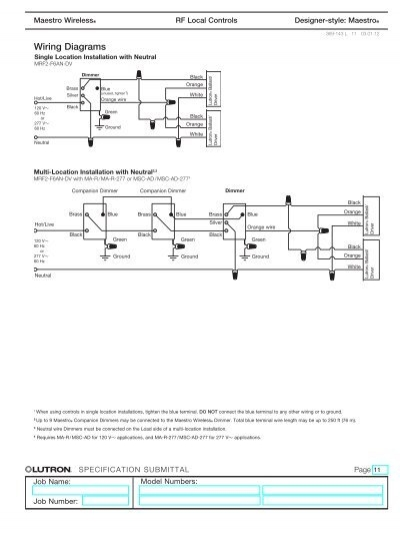 Maestro Lutron Dimmer Switches Wiring Diagram Msc Ad on
