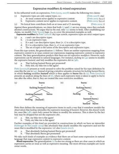 Expressive modifiers & mixed expressives - CSSP