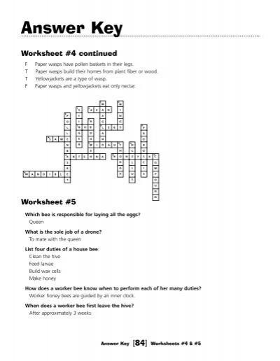 Answer Key Worksheet #3 c