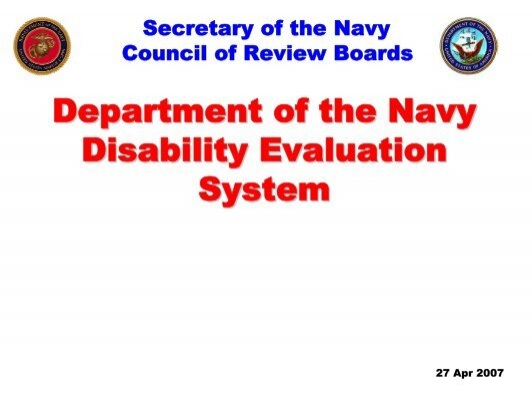 department of the navy disability evaluation system