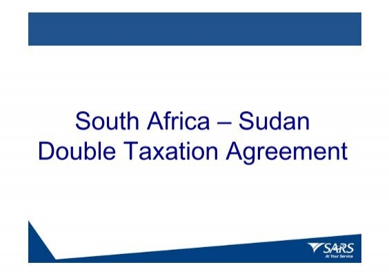 South Africa Sudan Double Taxation Agreement