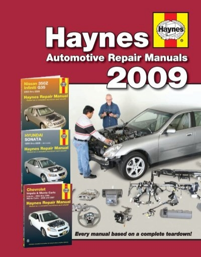 automotive repair manuals - haynes repair manuals  yumpu