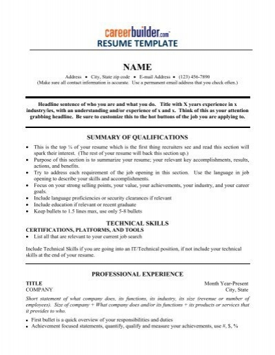 RESUME TEMPLATE - Icbdr
