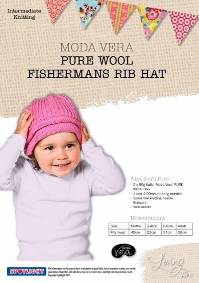 Moda Vera Pure Wool Fishermans Rib Hat Spotlight Promotions