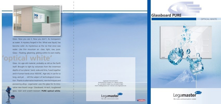 Glassboard PURE optical white - Legamaster