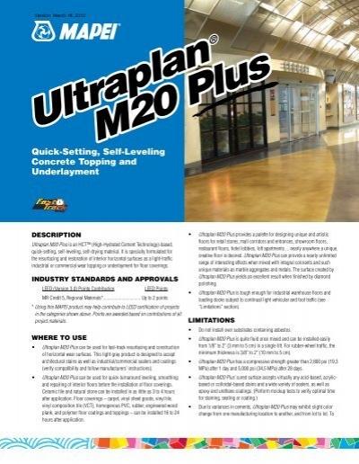 Ultraplan M20 Plus Ultraplan M20 Plus - GBL Construction