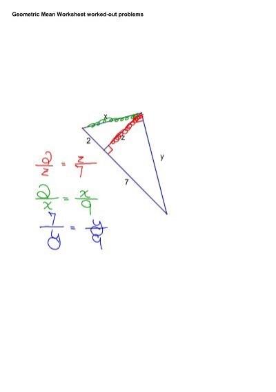 geometric - Geometric Mean Worksheet