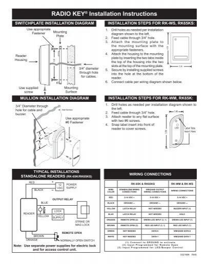 radio key installation instructions secura key rh yumpu com Engine Key Switch Wiring Diagram Control Wiring Diagrams