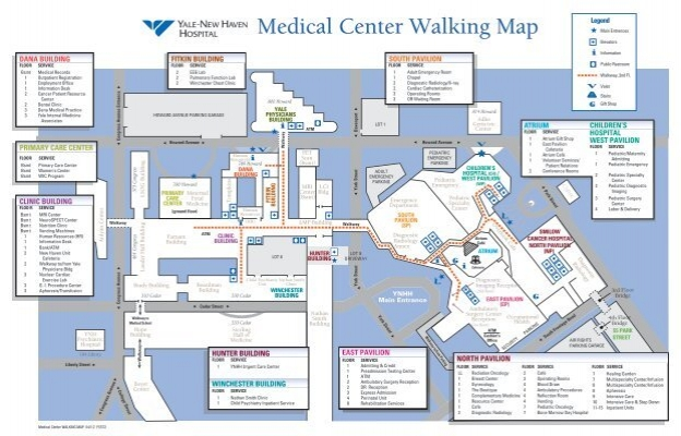 Medical Floor Plan Yale New Haven Hospital on outpatient clinic floor plan