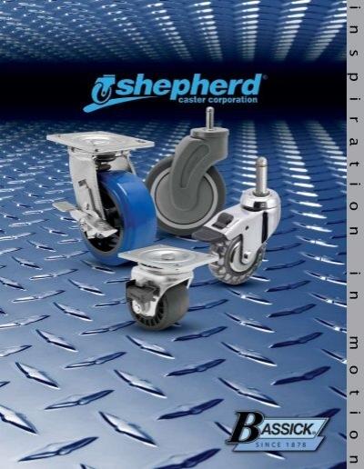 Fits 1-5//8-1-11//16 Round Tube Diameter Shepherd Institutional Series 5 Diameter Hard Rubber Wheel Swivel Caster with Tread Brake 280 lbs Capacity Expanding Stem