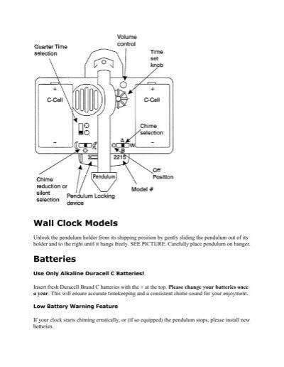 Wall clock models batteries the clock depot publicscrutiny Gallery