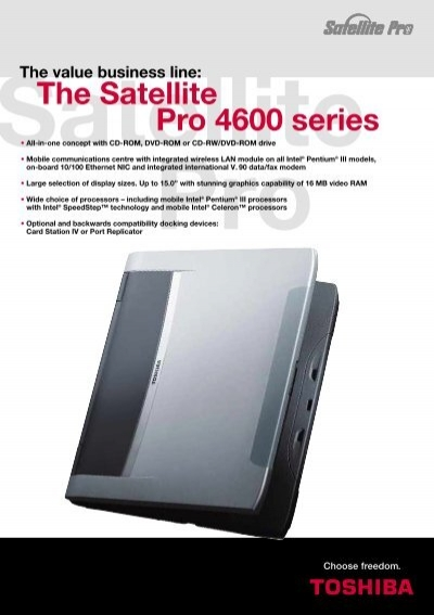 the satellite pro 4600 series toshiba rh yumpu com Toshiba Satellite P55-B Ads Toshiba Satellite User Manual