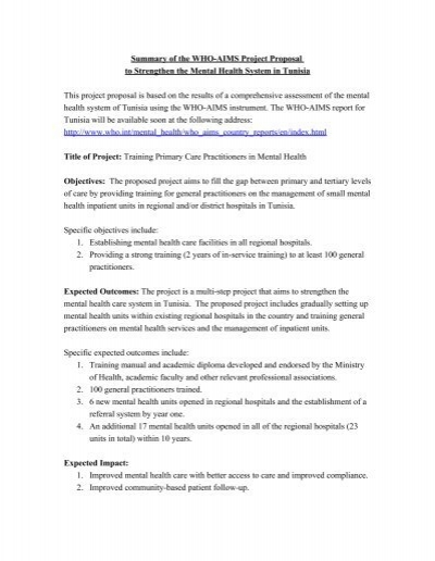 academic project proposal