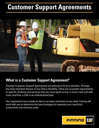 View Customer Support Agreements Brochure
