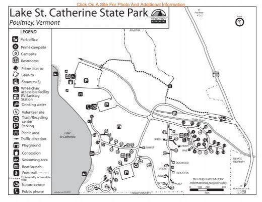 Lake St Catherine State Park Interactive Campground Map