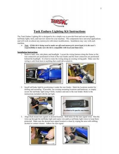 Tusk enduro lighting kit instructions rocky mountain atvmc publicscrutiny Choice Image