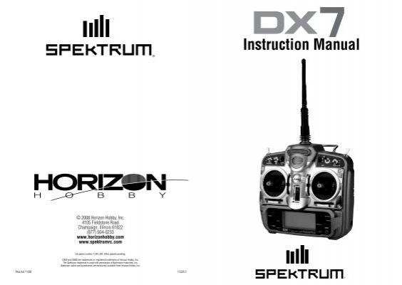 DX7 Manual - Spektrum   Spektrum Dx7 Rc Plane Wiring Diagram      Yumpu