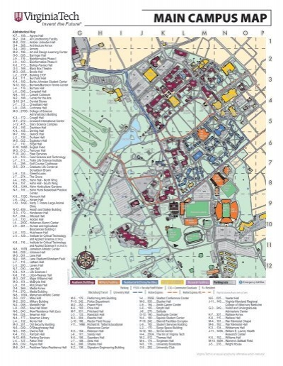 MAIN CAMPUS MAP - Virginia Tech