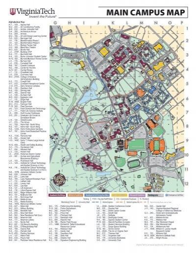 Main Campus Map Virginia Tech