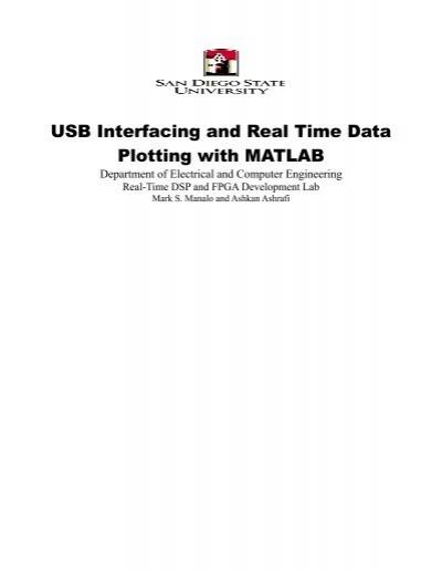 USB Interfacing and Real Time Data Plotting with MATLAB