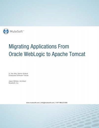 Migrating Applications From Oracle WebLogic to Apache