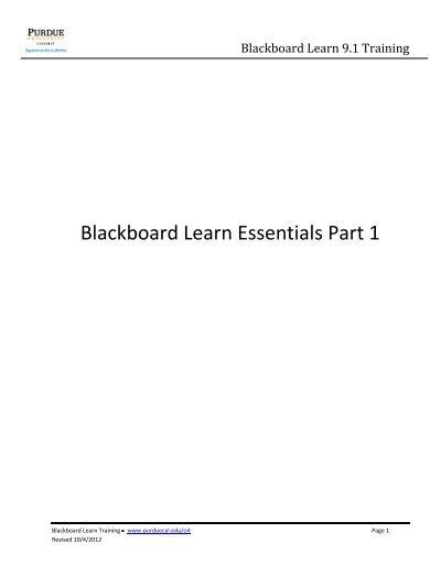 purdue calumet blackboard learn login