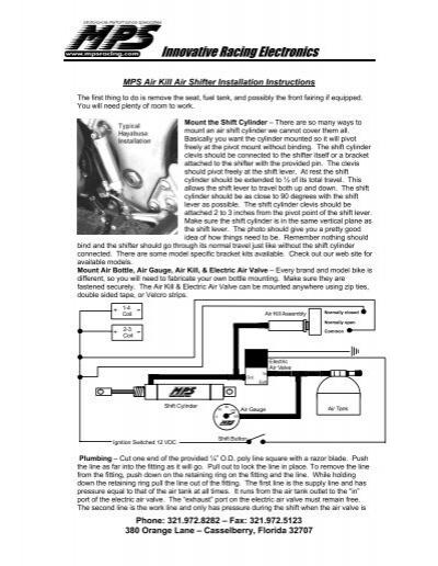 innovative racing air kill air shifter mps racing