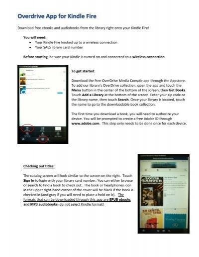 Overdrive App for Kindle Fire - Clifton Park-Halfmoon Public Library