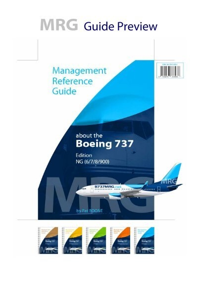 mrg guide preview b737mrg net the boeing 737 management rh yumpu com Report Manager boeing 737 management reference guide download
